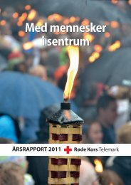 Telemark Røde Kors Årsrapport 2011