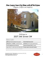 Download the brochure in PDF - Calgary Home Previews