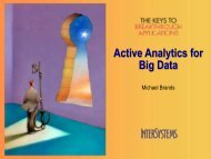 Active Analytics for Big Data - InterSystems Benelux