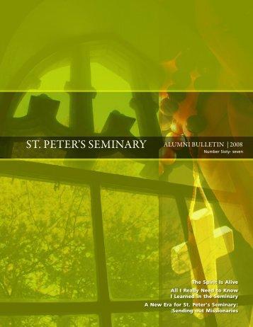 St. Peter'S Seminary alumni Bulletin   2008