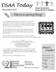 March-April - Down Syndrome Association of Atlanta