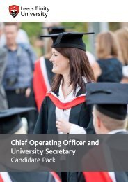 Chief Operating Officer and University Secretary Candidate Pack