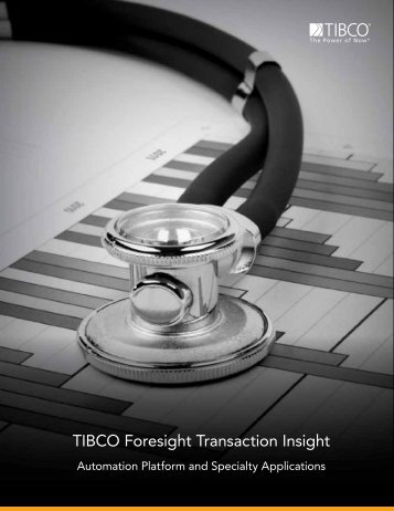 TIBCO Foresight Transaction Insight