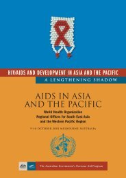 AIDS in Asia and the Pacific - hivpolicy.org