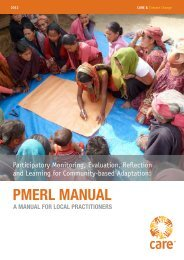 The PMERL Manual (English) - CARE Climate Change