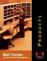 MailCenter Products - Modern Office Systems