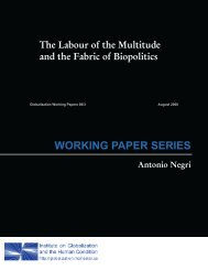 WORKING PAPER SERIES - McMaster University