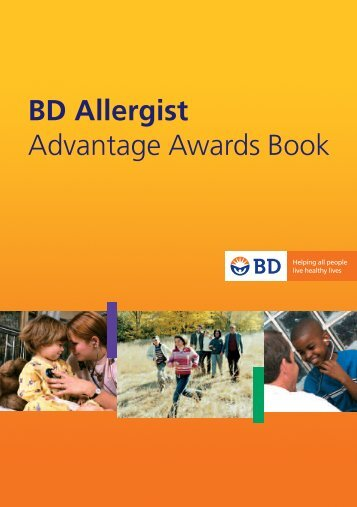 BD Allergist Advantage Awards Book