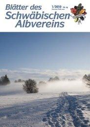 Blätter des Schwäbischen Albvereins 1/2010 - Schwaben-Kultur