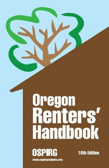 Oregon Renters' Handbook - OSPIRG