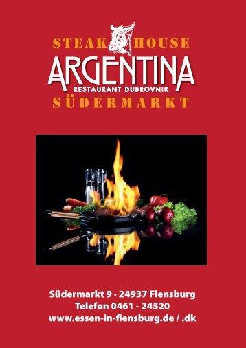 + Argentina Steak-Karte - Essen in Flensburg