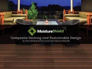 Composite floor decks for Sustainable decking