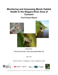 Monitoring & Assessing Marsh Habitat Health - Niagara Peninsula ...