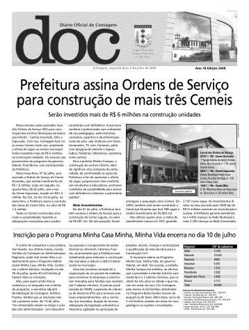 Diário Oficial Nº 2468 - Prefeitura de Contagem