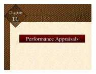Performance Appraisals - College of Business Administration