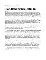 Handleiding schrijven Projectplan - Intranet