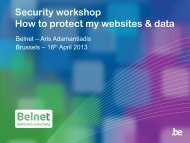 Security workshop How to protect my websites & data - Belnet - Events