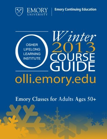tuesdays - Emory Continuing Education - Emory University