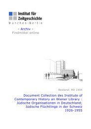 Document Collection des Institute of ... - Institut für Zeitgeschichte
