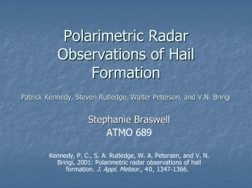 Polarimetric Radar Observations of Hail Formation