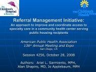 Referral Management Initiative - Children's Health Fund