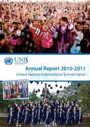 Annual Report 2010-2011 - United Nations International School of ...