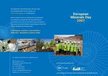 European Minerals Day Poster