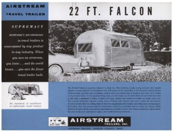 22 FT. FALCON - Airstream