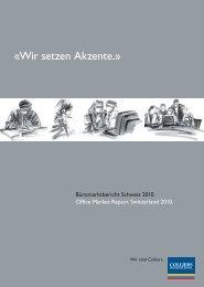 Büromarktbericht Schweiz 2010 - Stephan Wegelin