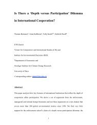 Is There a 'Depth versus Participation' Dilemma in International ...