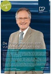 De Programm 2011- 2017 - DP