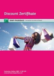 Discount Zertifikate - BNP Paribas