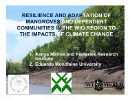 Resilience and adaptation of mangroves and dependent ...