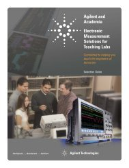 Agilent and Academia Electronic Measurement Solutions for ...