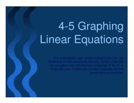 4-5 Graphing Linear Equations - Mona Shores Blogs