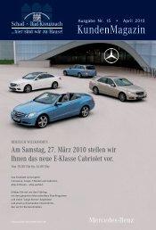 Schad KundenMagazin 1/2010