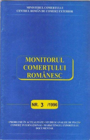 Monitorul Comerţului Românesc nr.3, mai-iunie 1996 - ecr-uvt