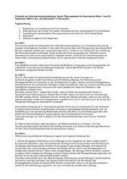 Protokoll zur Informationsveranstaltung - im Biosphärenreservat ...