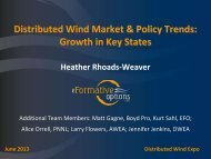 Small Wind Policy and Market Trends: Drivers and Growth