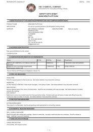 SAFETY DATA SHEET MANCHEM PLATE GUM - Offset Supplies