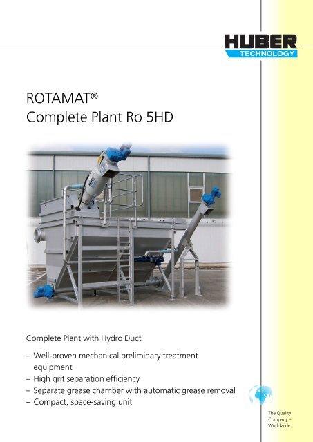 ROTAMAT® Complete Plant Ro 5HD - brochure english