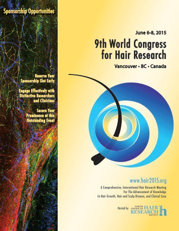 Sponsorship Opportunities - North American Hair Research  Society ...