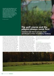 The golf course and the players always come first - Greenkeeper