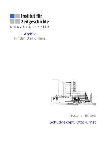 Archiv - Institut für Zeitgeschichte