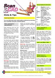 Scan2CAD Hints & Tips - Carlson Software