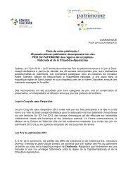 Les Prix du patrimoine 2013 - Conseil de la culture des régions de ...