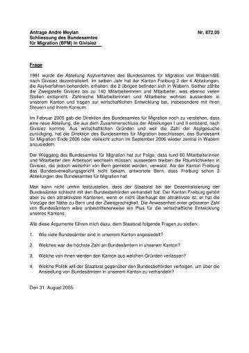 Antwort des Staatsrats - CSP