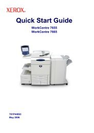 Quick Start Guide - Xerox Support and Drivers