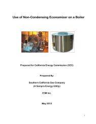 Use of Non-Condensing Economizer on a Boiler - Go Solar California