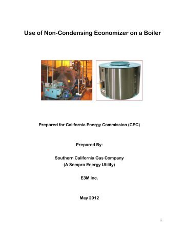 Use of Non-Condensing Economizer on a Boiler - Go Solar California